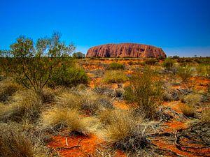 Uluru, de heilige rots in de Outback van Australie