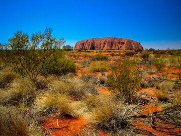 Uluru, de heilige rots in de Outback van Australie van