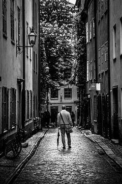 Stockholm Gamla Stan B/W 2 von Joram Janssen