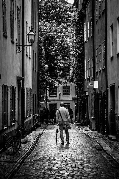 Stockholm Gamla Stan B/W 2 van Joram Janssen