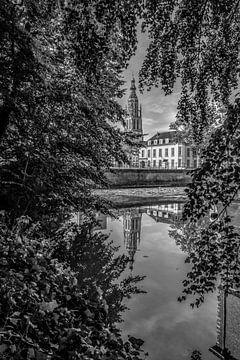 Breda - Große Kirche - Schwarz und Weiß von I Love Breda