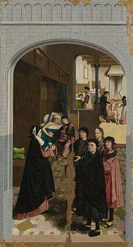 Die sieben Werke der Barmherzigkeit (Teil 6), Meister von Alkmaar, 1504