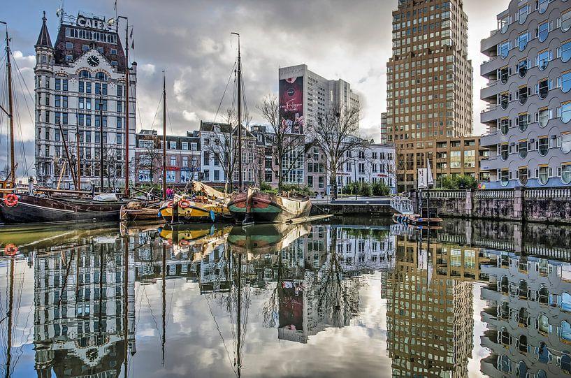 Gelderseplein en Oude Haven van Frans Blok