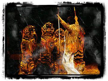 Tiger und Dompteur von Leopold Brix