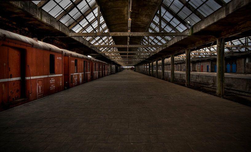 Leegstaand treinstation van Eus Driessen