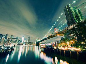 New York City - Brooklyn Bridge at Night