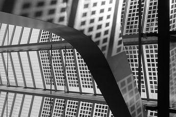 Detail van de  bouwkundige constructie van Rotterdam CS van Floris Kok