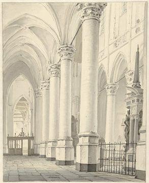 Ansicht in der Nieuwe Kerk in Delft, Johannes Jelgerhuis, 1819