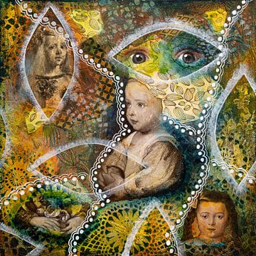 Mädchen mit schönen Augen von Lida Bruinen