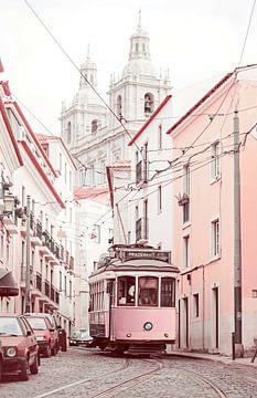 Rosa Straßenbahn