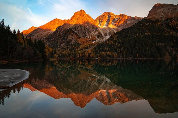 Alpenglow - Antholzersee - Trentino-Alto Adige - Italië