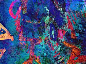 Modern, Abstract Digitaal Kunstwerk – Sleeping At The Wheel