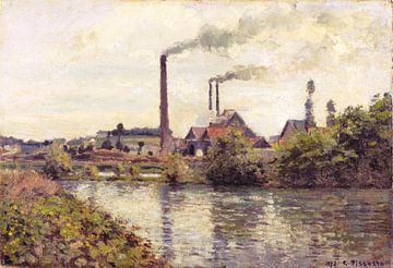 L'usine de Pontoise, Camille Pissarro sur
