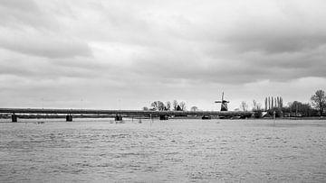 De IJssel bij Deventer (3) van Rob van der Pijll