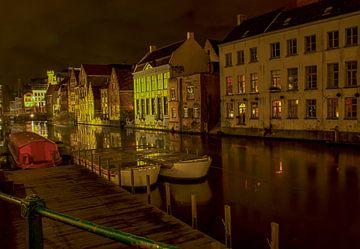 Gent bij nacht 4 van Fleksheks Fotografie