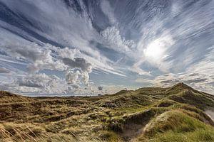 Wolken in het duingebied van Egmond