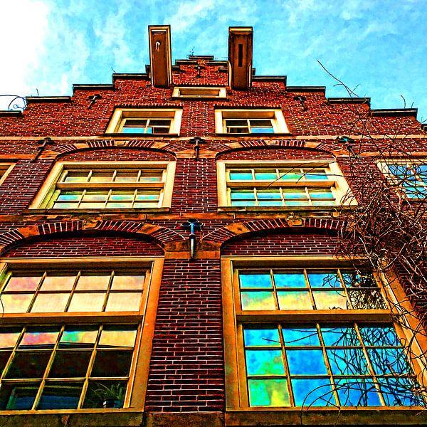 Colorful Amsterdam #106 van Theo van der Genugten