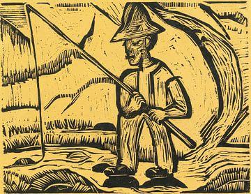 Der Fischer, Ernst Ludwig Kirchner 1923 von Atelier Liesjes