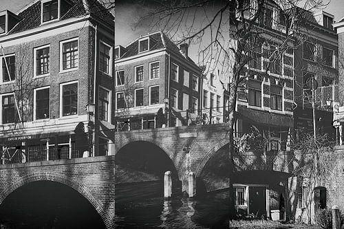 Drieluik de Gaardbrug over de Oudegracht in Utrecht