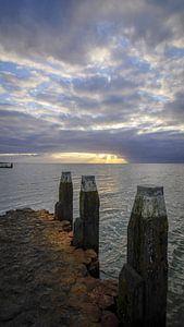 Zicht op het IJsselmeer
