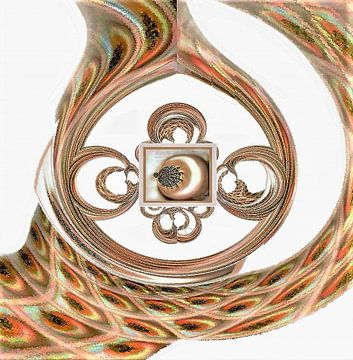 A Twist Of Pearls- Abstract van Annaluiza Dovinos