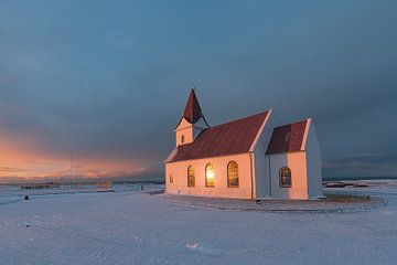 Ingjaldshólskirkja, Iceland van Andreas Jansen