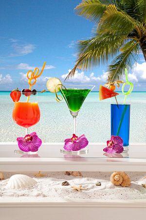 Gezellige uitstraling van  beach cocktails