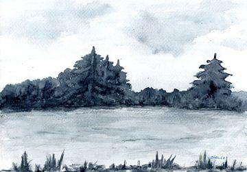 Het meer in de winter van Sandra Steinke