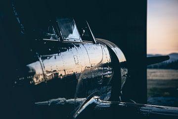 Vliegtuig in Hangar van Leon Weggelaar
