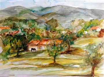Ansicht von Monchique / Portugal. von