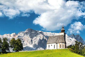 Oostenrijks kerkje in Dienten am Hochkönig
