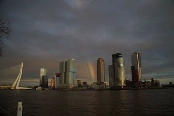 Skyline Rotterdam van Jan Nuboer