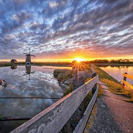 Molen t Noorden, Oost. Texel. van Justin Sinner Pictures ( Fotograaf op Texel)