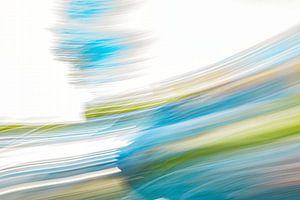 Weiß und blau in Geschwindigkeit