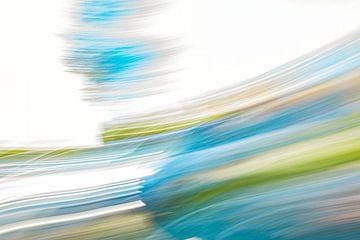 Weiß und blau in Geschwindigkeit von Jan Peter Jansen