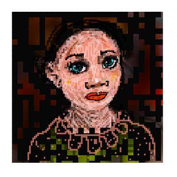 Vrouw. Pixels van Raina Versluis