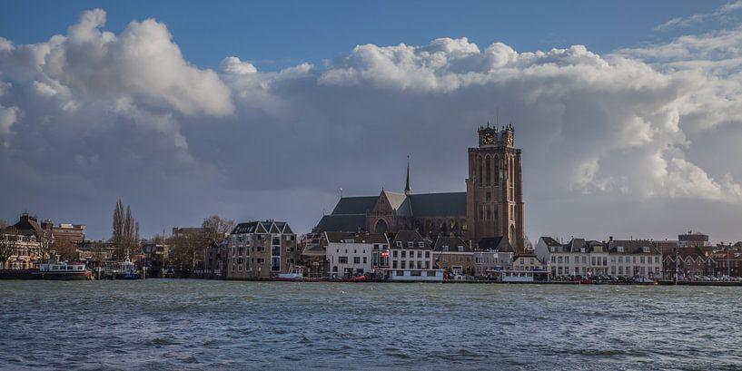 Dordrecht rivierzicht 4 van John Ouwens