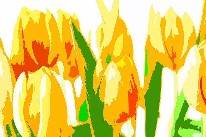Stilleven van bloemen van Maerten Prins