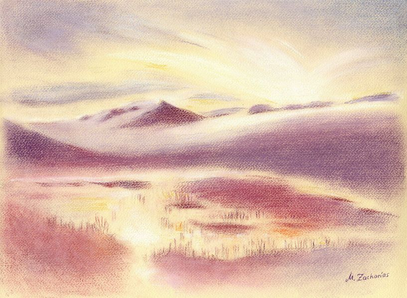 Mystic Sunrise in Scandinavië van Marita Zacharias