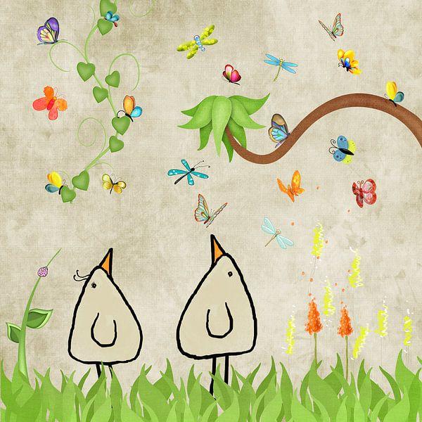 Butterflies beep van Marion Tenbergen