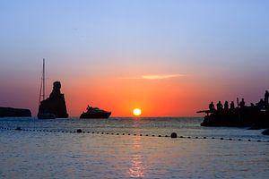 Zonsondergang op Ibiza bij Benirras van