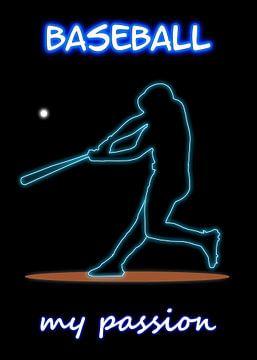 Baseball van Printed Artings