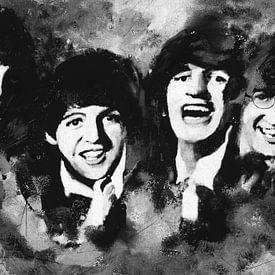 De Beatles - monochroom van Christine Nöhmeier