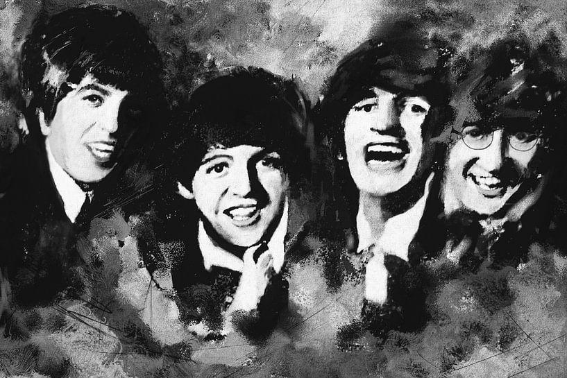 The Beatles - monochrom von Christine Nöhmeier