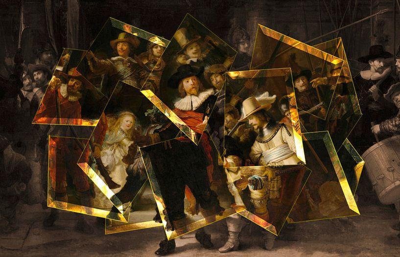 De Moderne Nachtwacht - Rembrandt van Rijn van Lia Morcus