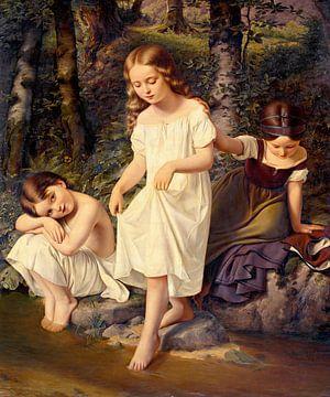Eduard Steinbruck-Kinder im Bad