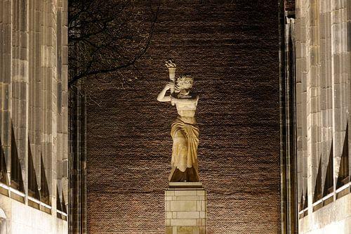 Het verzetsmonument op het Domplein in Utrecht