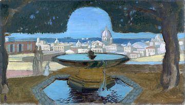 DENIS Maurice - Het bekken van de Villa Medici, 1898 van Atelier Liesjes