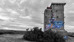 Grafitti in de duinen van