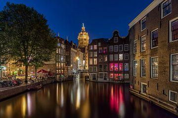 Amsterdam zicht op de Zeedijk van Dennisart Fotografie